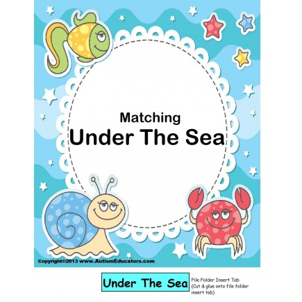 File Folder Game MATCHING UNDER THE SEA