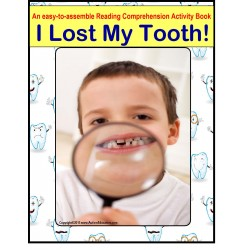 I Lost My Tooth Reading Comprehension Activity for Autism/Special Education/Kindergarten/Pre-K