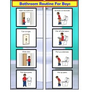 FREE! Bathroom Visual Schedule For Boys