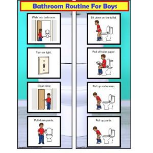 free bathroom visual schedule for boys