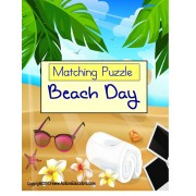 FREE Matching Activity Summer Beach Days for Pre-K, Kindergarten, Autism and Special Education