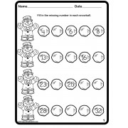 Winter Math Snowball Sequencing Numbers Worksheets FREE
