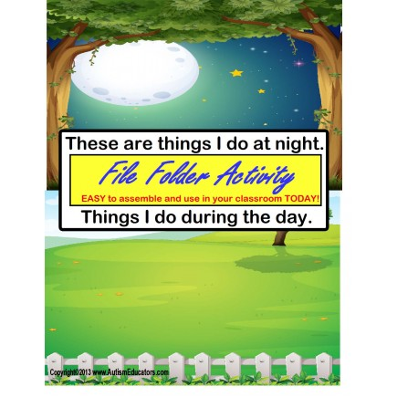 Things I Do- DAY and NIGHT File Folder Game