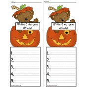 FREE Autumn Words - Stamp, Copy and Write!