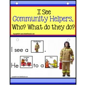 Autism - Build A Sentence with Pictures Interactive - COMMUNITY HELPERS