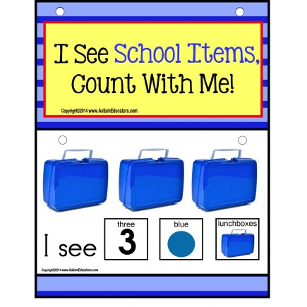 Autism - Build A Sentence with Pictures Interactive - SCHOOL ITEMS