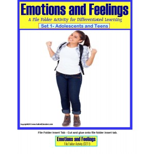 File Folder Activities for Autism {Emotions and Feelings Social Skills for Adolescents and Teens}