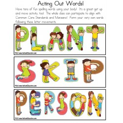 Spelling Fun With Words - Acting Out Letters {Kindergarten/First Grade/Special Education}