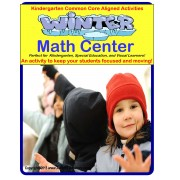 Differentiated Math Center WINTER THEME- STAND UP AND LEARN