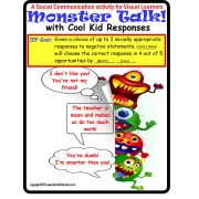 Autism Social Skills Interactive Activity Monster Talk with Cool Kid Responses