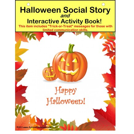 Halloween Social Story and Interactive Activity Book