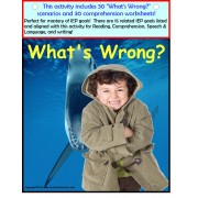 Autism Reading Comprehension Speech and Language Activity Book and Worksheets for Visual Learners