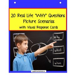 "Language & Comprehension ""WHY"" Picture Scenarios and Response Cards"