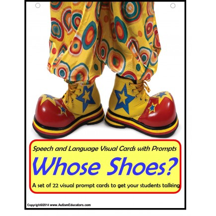 Autism Speech & Language Picture Prompts WHOSE SHOES