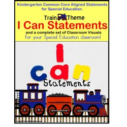 Autism Classroom Complete Visuals Package -Train Theme PLUS FREE Stand Up and Learn Back-To-School Activity