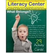 What Belongs? Literacy Center for Autism, Special Education, Kindergarten and First Grade