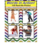 Autism - 100 Real Life Picture Word Verb Cards For Visual Learners