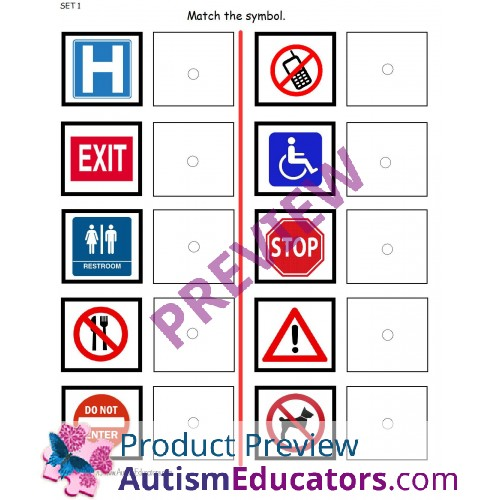 Common Signs and Symbols for Visual Learners Interactive ...