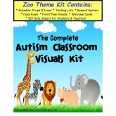 The Complete Autism Classroom Visuals Kit - ZOO THEME