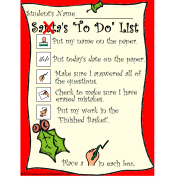 FREE Student Checklist with Christmas Theme