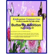 File Folder Game Butterfly Addition Kindergarten Common Core (Autism and Special Needs)
