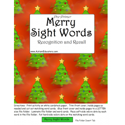 Pre-Primer Merry Sight Words       FREE!