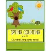 Spring File Folder Activities Count To 10 for Kindergarten, Pre-K, Autism {Butterflies and Animals}