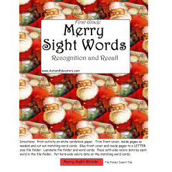 File Folder Game FIRST GRADE Merry Sight Words