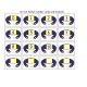 File Folder Matching Number Words Football Theme
