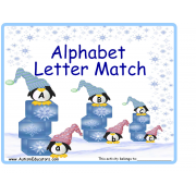 Penguins on Ice Alphabet Match