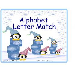 Penguins on Ice Alphabet Match