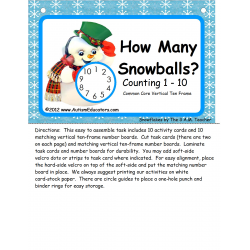 Common Core Kindergarten Winter Math