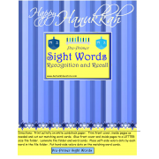 Happy Hanukkah Pre-Primer Sight Words