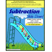 Subtraction Math Center Activity {Autism, Special Education, Kindergarten Common Core}
