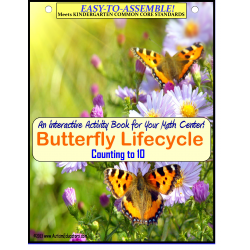 Butterfly Lifecycle Theme Count To 10 Interactive Math Center {Kindergarten}