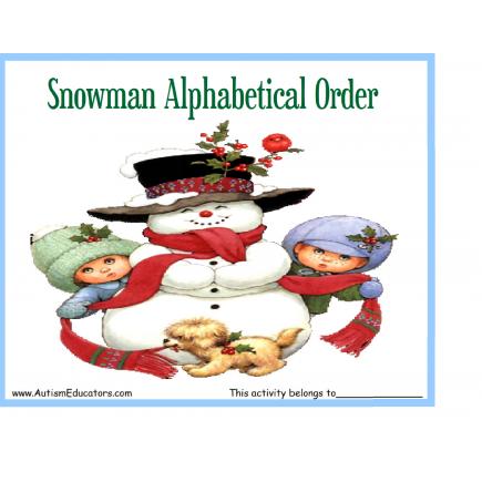 Snowman ABC Order