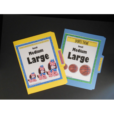 File Folder Games Sorting By Size (Set of 2)