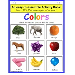 Sorting by Color with Pictures Activity Book {Pre-K, Kindergarten, Autism & Special Education}