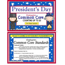 President's Day Kindergarten Common Core Activity Count to 20