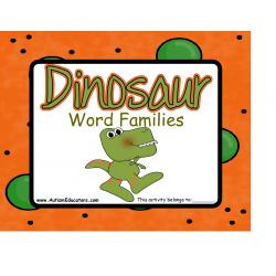 Dinosaur Word Families
