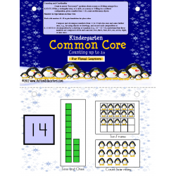 Math Kindergarten Common Core Counting to 20 Penguin Activity (Autism)