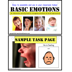 Emotions Interactive Activity Book {Autism, Early Childhood and Special Education}