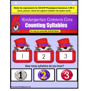 Syllable Counting Cat In The Red Hat Activity Book