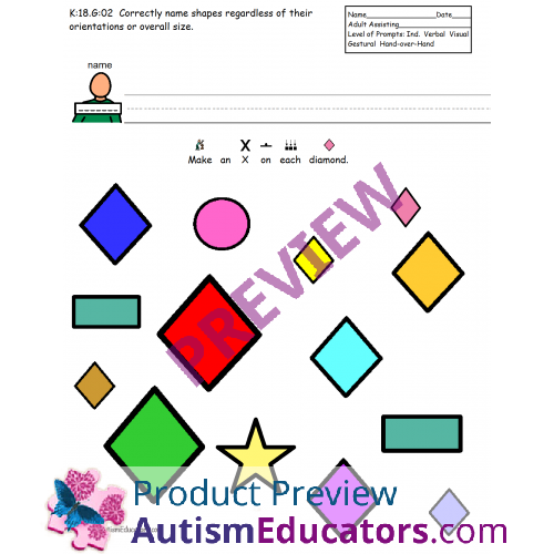 Printables Special Education Worksheets shapes file folders and assessment worksheets comprehensive packet for autismspecial education