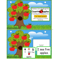 Common Core Kindergarten Counting Apples for Visual Learners