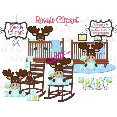 Baby Boy Moose Clipart Baby Boy Moose Clipart