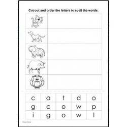 Cut and Spell - Autism, Special Needs, SEN, Spelling, Early Years