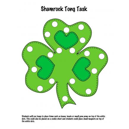 Shamrock Fine Motor Tasks