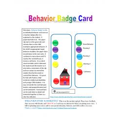 Behavior Badge Card