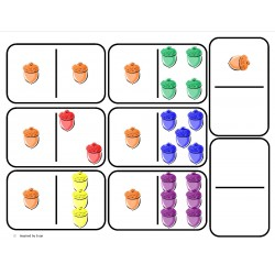 Domino Math with Acorns for Autism